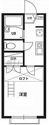 埼玉県越谷市宮本町3の賃貸アパートの間取り