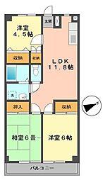 東京都江戸川区南小岩1丁目の賃貸マンションの間取り