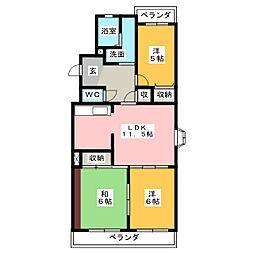 メゾン・ド・飯田[3階]の間取り