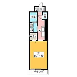 ジュネストラント[2階]の間取り
