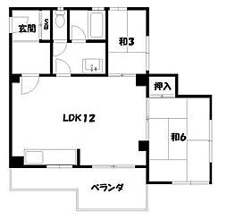 南禅寺荘[1階]の間取り