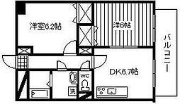 松橋マンション[301号室]の間取り