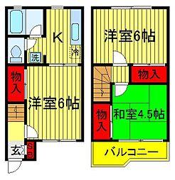 [一戸建] 千葉県柏市松葉町1丁目 の賃貸【/】の間取り