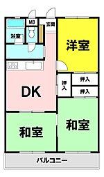五百渕ハイコーポ 5階 2LDK