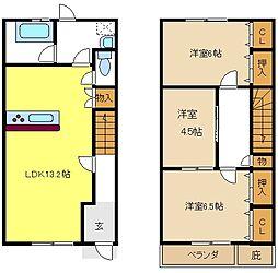[テラスハウス] 愛知県名古屋市天白区向が丘1丁目 の賃貸【/】の間取り