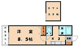 パークヒルズ名島フィールドII[2階]の間取り