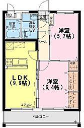 Hiマンション[202号室]の間取り