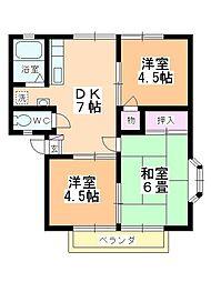 タキシマハイツC棟[2階]の間取り