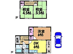 [一戸建] 愛媛県松山市古川北2丁目 の賃貸【/】の間取り
