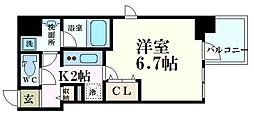 Osaka Metro谷町線 天満橋駅 徒歩6分の賃貸マンション 9階1Kの間取り