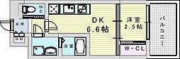 阪急宝塚本線 三国駅 徒歩5分の賃貸マンション 5階1DKの間取り