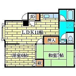 ガーデンハイム真栄[1階]の間取り