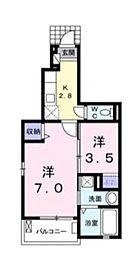 K−アイリス[1階]の間取り