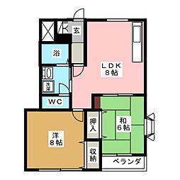 パルコート加藤[2階]の間取り