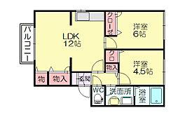 カーサクレアール1[1階]の間取り