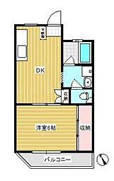 神奈川県横浜市南区宿町3丁目の賃貸マンションの間取り
