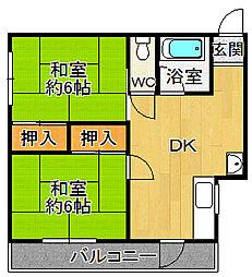 藤本ハイム[2階]の間取り
