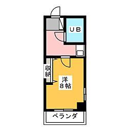 ウイング長澤[5階]の間取り