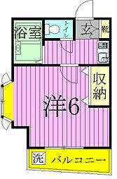 ジュネパレス松戸第21[2階]の間取り