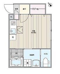 東京メトロ丸ノ内線 南阿佐ヶ谷駅 徒歩4分の賃貸アパート 1階1Kの間取り