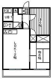 宮崎県宮崎市恒久6丁目の賃貸マンションの間取り