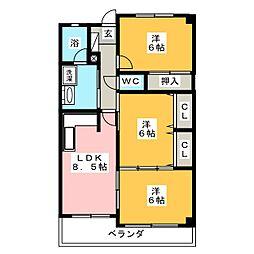 ゴールド高澤[2階]の間取り