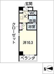 愛知県名古屋市守山区金屋1丁目の賃貸マンションの間取り