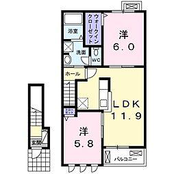 クレール セゾン[2階]の間取り