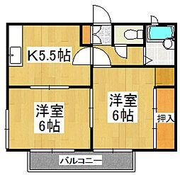 ボナール清瀬[2階]の間取り