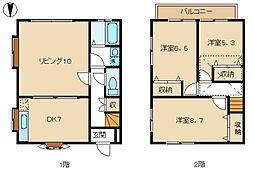 [テラスハウス] 神奈川県横浜市青葉区若草台 の賃貸【/】の間取り