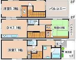 [一戸建] 兵庫県神戸市東灘区魚崎北町5丁目 の賃貸【/】の間取り