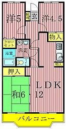 第10パールメゾン蒲田[306号室]の間取り