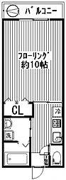 ハイツフレンド鶴光路[1階]の間取り