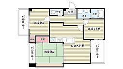 大阪府豊中市熊野町1丁目の賃貸マンションの間取り