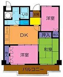 ニューライトマンション[106号室]の間取り