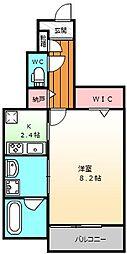 大阪府堺市堺区大仙西町2丁の賃貸アパートの間取り