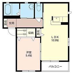 キャロッツA[2階]の間取り