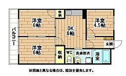 レイズ友田[3階]の間取り