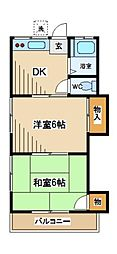 東京都府中市天神町2丁目の賃貸アパートの間取り