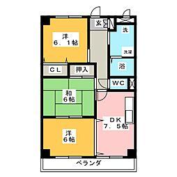 パストラルグリーン[3階]の間取り