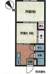 土志田荘[103号室号室]の間取り