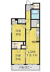 Maison Calme( メゾンカルム)[2階]の間取り