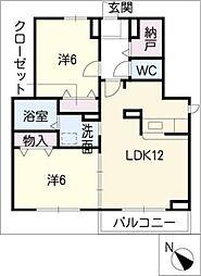 ドリーム21 B棟[1階]の間取り