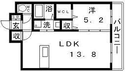 ソレイユサカエ[3階]の間取り