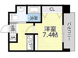 Osaka Metro今里筋線 蒲生四丁目駅 徒歩4分の賃貸マンション 3階1Kの間取り