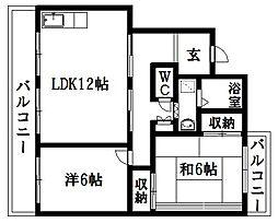 ラフォーレ渡瀬B[2階]の間取り