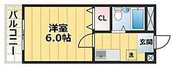 プレアール東中浜[4階]の間取り