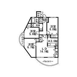 Ecoregalo[3階]の間取り