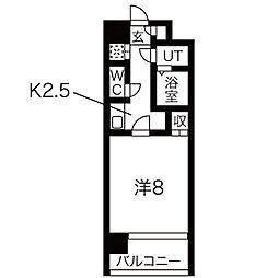 リエス東別院[5階]の間取り