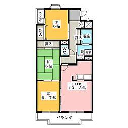 プレサージュK[2階]の間取り